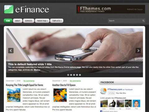 黑色风格wordpress cms主题eFinance
