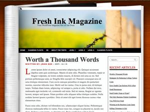 wordpress博客主题Fresh Ink Magazine:像书一样
