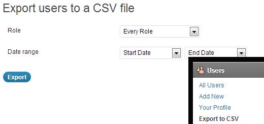 wordpress技巧:如何导出用户为CSV文件