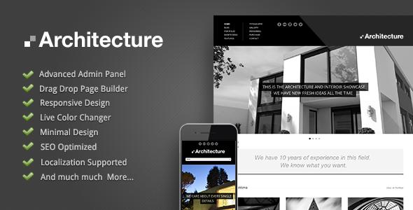 wordpress主题Architecture v1.02:大气建筑主题