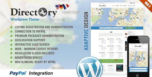 wordpress主题directory构建在线目录门户网站