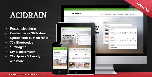 wordpress企业主题AcidRain v1.01:多目的