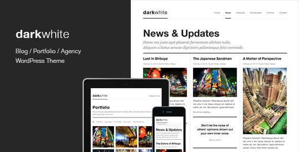 wordpress主题Darkwhite博客和作品集主题