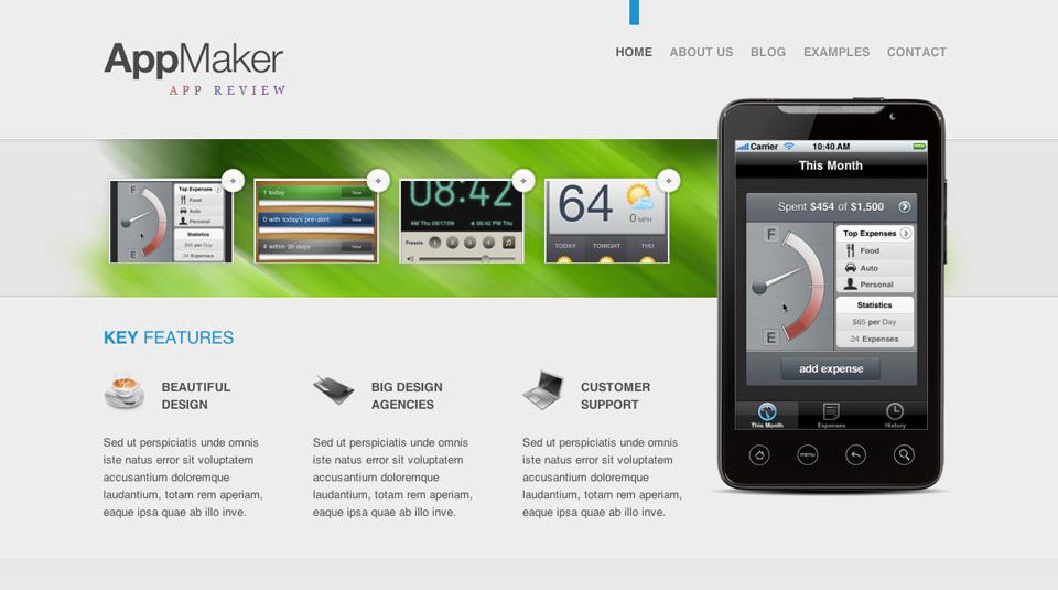 wordpress应用主题appmaker:促销你的产品