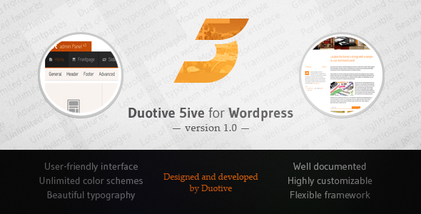 wordpress企业主题Duotive 5ive:v1.09