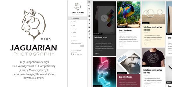 wordpress作品集主题Jaguarian v1.06适合分享图片