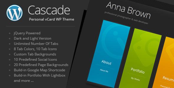 Cascade v7.0-简约个人名片wordpress主题