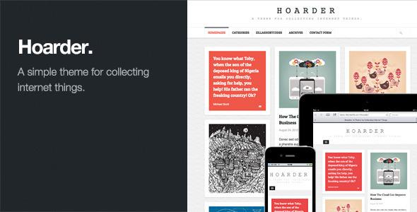 Hoarder v1.2-自适性网格布局WordPress博客主题