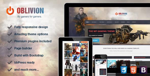 Oblivion v1.0-游戏评级或作品类wordpress主题下载