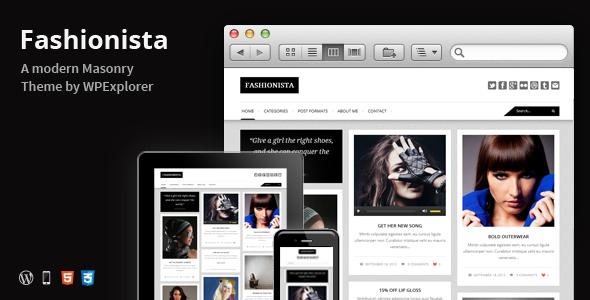 Fashionista v.1.5 – 瀑布流自适性WordPress博客主题