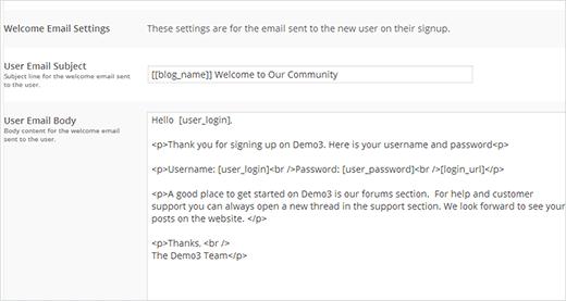 WordPress如何给新用户发送自定义欢迎信息
