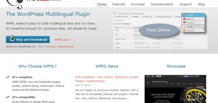 wordpress多语言插件WPML v3.1.5