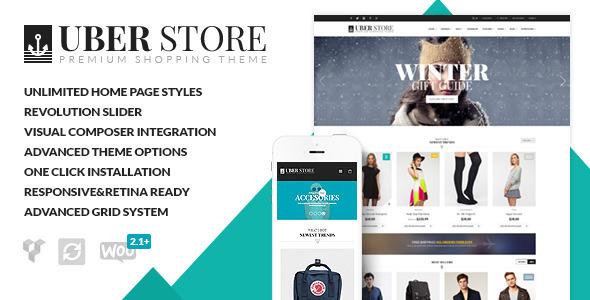 UberStore – 下一代电子商务wordpress主题