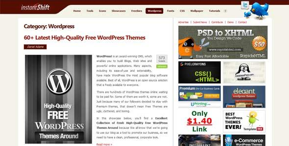 Wordpress tutorials instantshift8