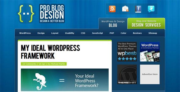 wordpress themes Pro Blog Design