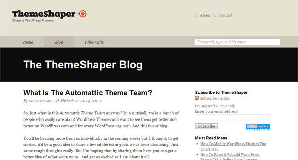 wordpress tutorials ThemeShaper
