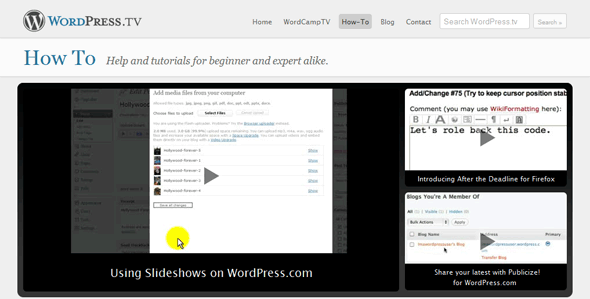 wordpress tuts How ToWordPress.tv