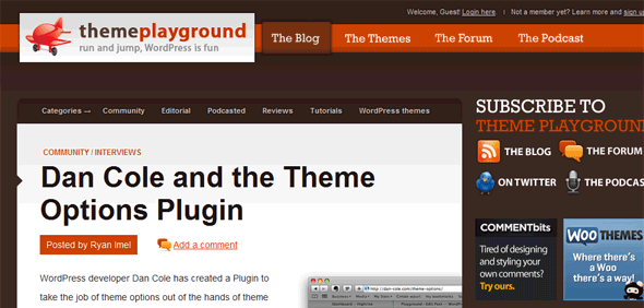 wordpress tuts Theme Playground