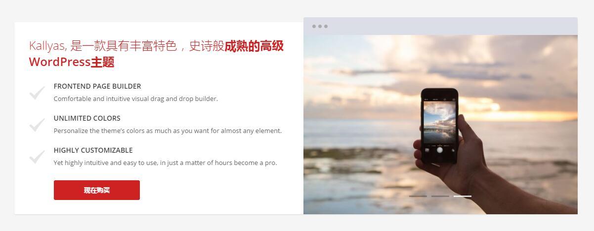 使用Kallyas做营销性网站必备工具:截屏盒