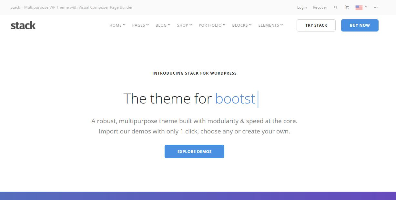 Stack v10.2.2 – 使用多样页面构建多功能WordPress主题