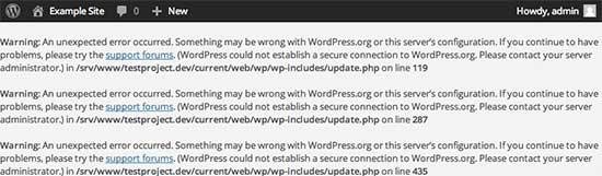 WordPress中的安全连接错误