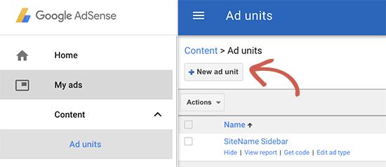 在Google AdSense中创建新的广告单元