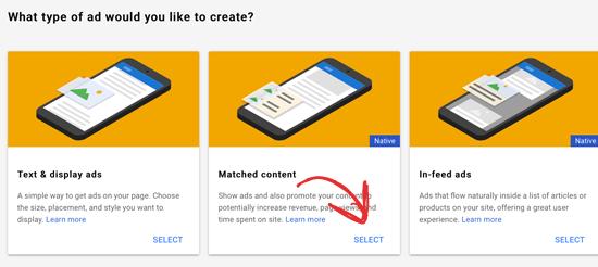 选择Google匹配的内容