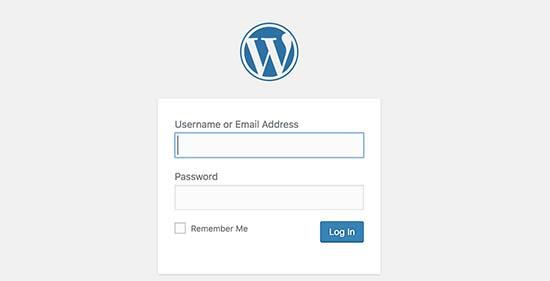 WordPress登录屏幕