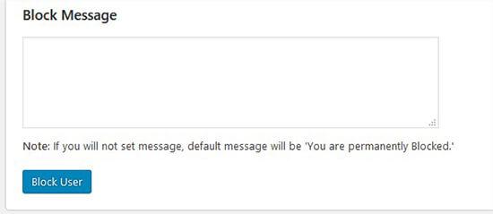 为被阻止的用户定制消息