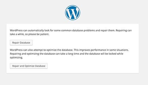 如何修复WordPress中数据库链接错误