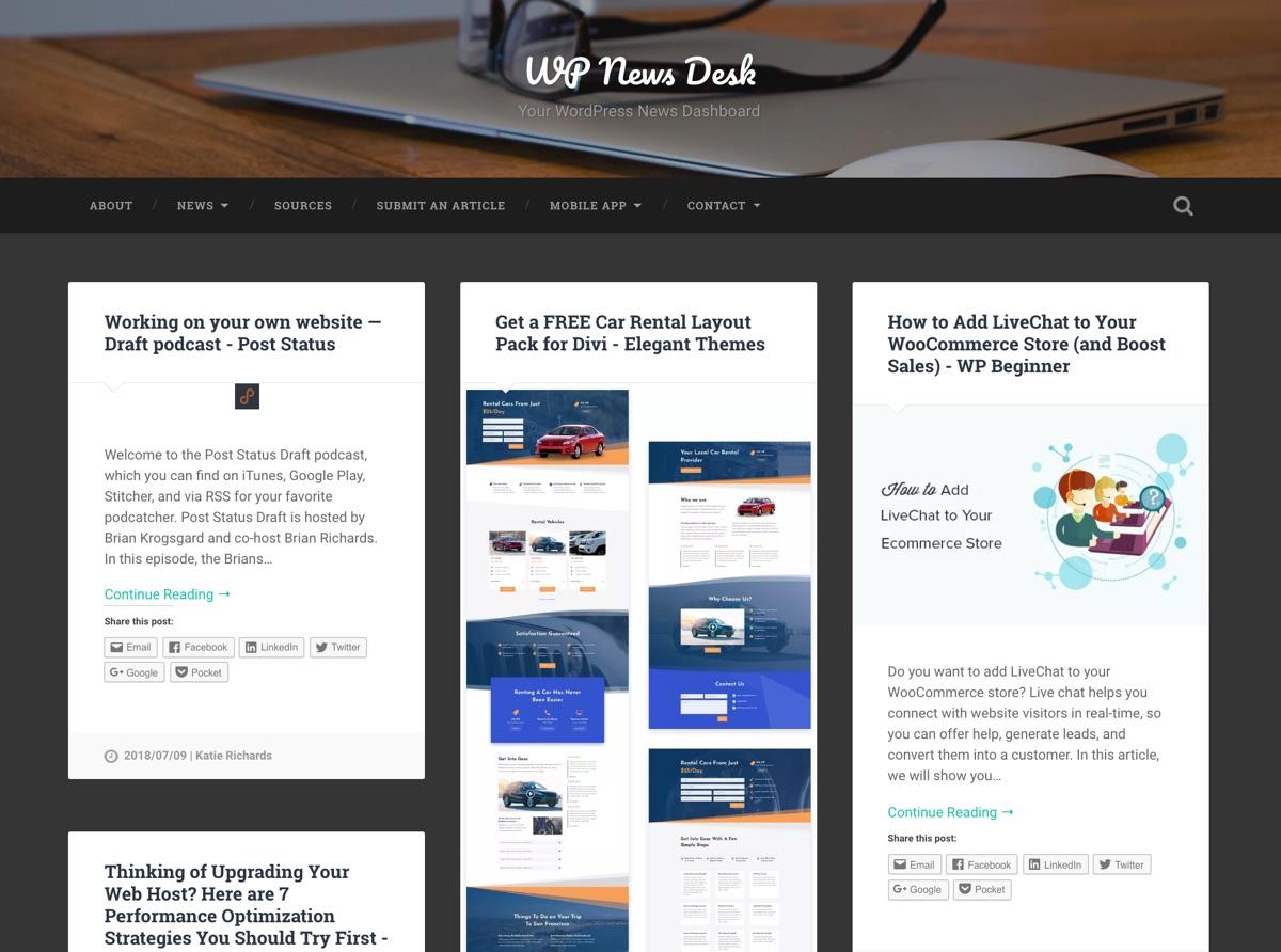 WP RSS聚合器:WPNewsDesk RSS新闻聚合
