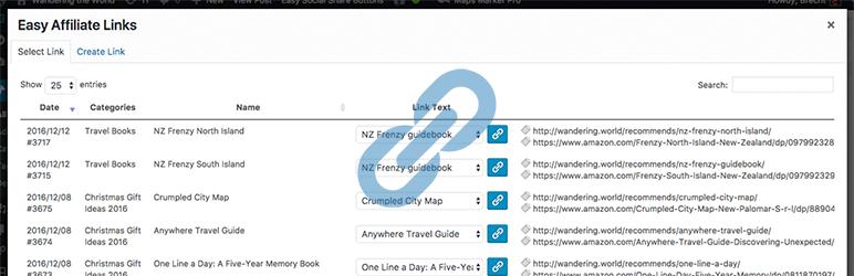 Easy Affiliate Links免费联盟营销WordPress插件