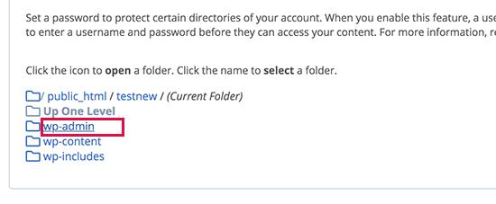 浏览并找到wp-admin文件夹