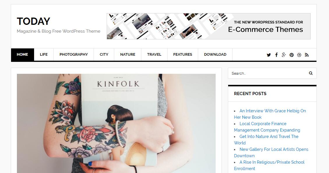 Today-免费博客和杂志WordPress主题