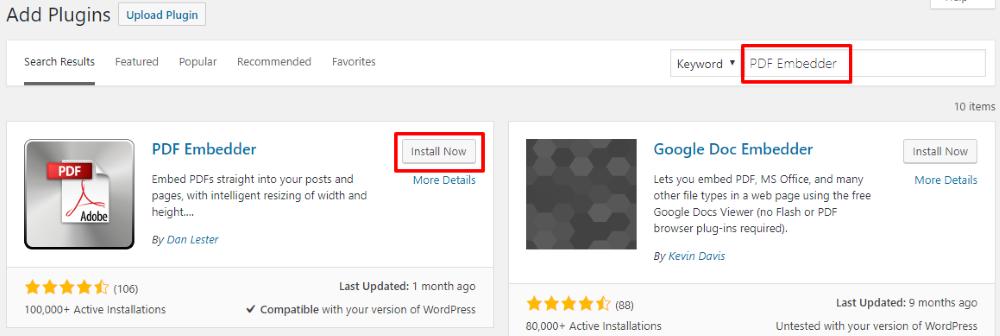 如何在WordPress中嵌入PDF文件