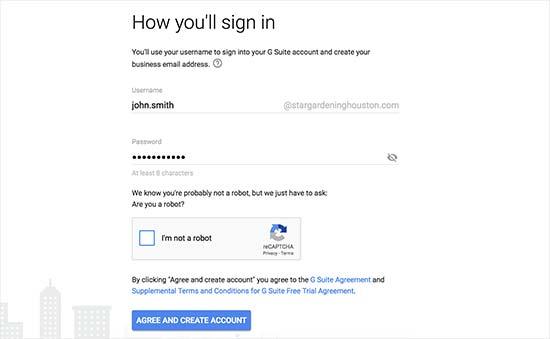 创建您的第一个G Suite用户帐户