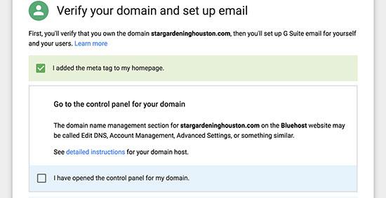 通过G Suite和Gmail验证专业电子邮件地址的域名