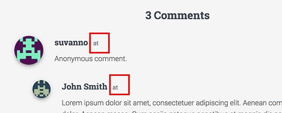 如何从WordPress评论中删除日期和时间