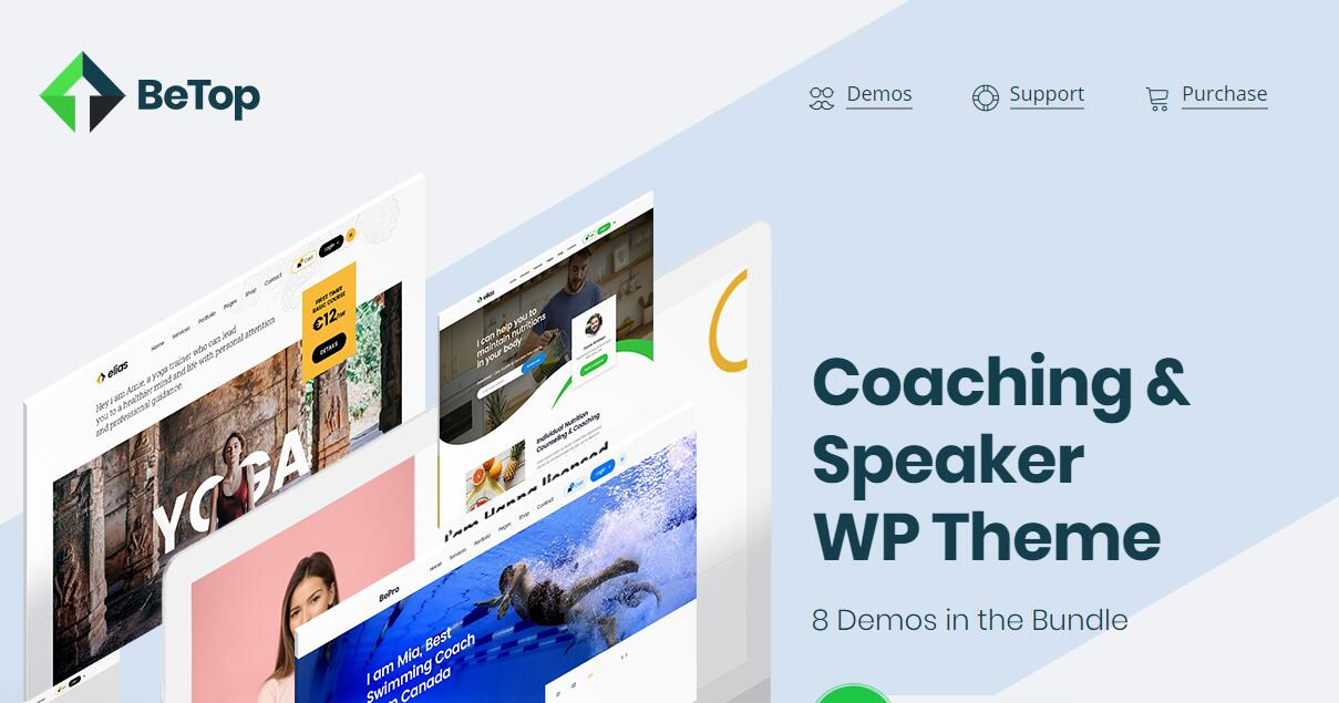 BeTop v1.0.2 – 教练&演讲者WordPress主题