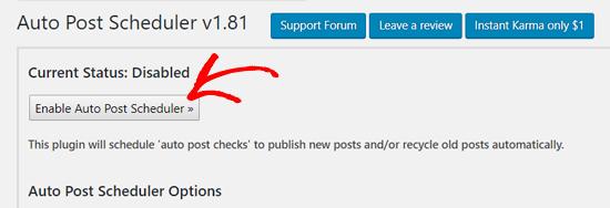 在WordPress中启用自动发布计划程序