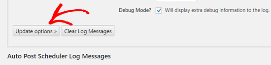 更新自动发布计划程序选项