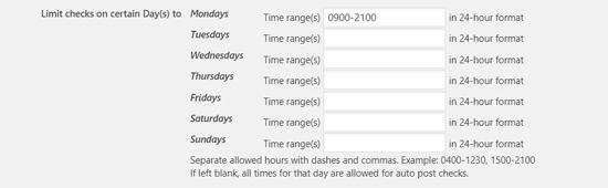 限制在特定日期检查以安排帖子
