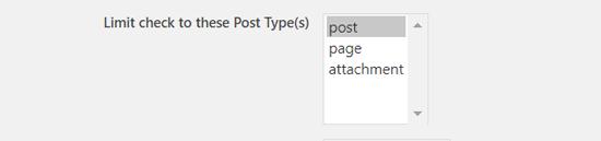 选择要安排的帖子类型