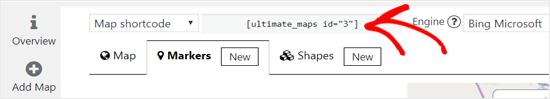 复制Bing Map Shortcode以嵌入WordPress