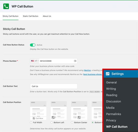 如何在WordPress中添加点击通话按钮