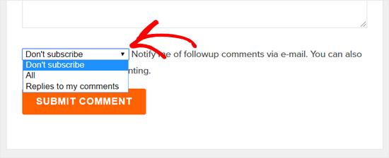 订阅WPBeginner博客中的评论