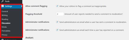 Zeno报告评论插件设置WordPress