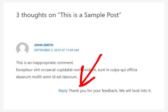 评论后的AJAX反馈在WordPress中报告
