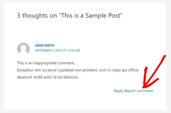 关于WordPress评论的报告评论选项