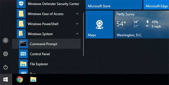 在Windows中打开命令提示符